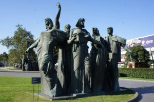 Skulptur Triumph der Arbeit im Park Museen